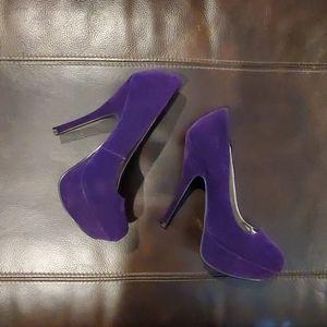 Qupid brand purple heels... WORN ONCE!